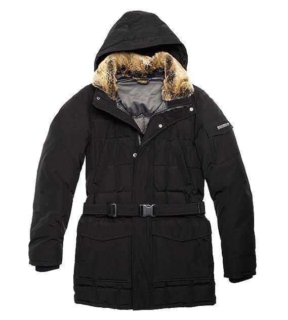 low priced cf928 31392 Woolrich - Herren Winterjacke (Blizzard) mit Fell-Besatz