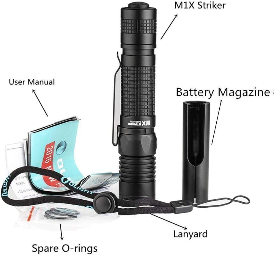 Nouveau Olight M1X Striker DEL Lampe de poche 1000 LM TORCHE Strike Lunette Double Switch