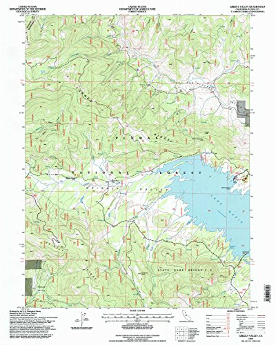 YellowMaps Grizzly Valley CA topo map, 1:24000 Scale, 7.5 X 7.5 Minute, Historical, 1994, Updated 1998, 26.8 x 21.4 in - Paper