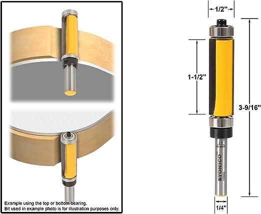 Size : NO1 1pc 8mm Shank 2-1//2 Blade Extra Long Flush Trim Wood Router Bit WHF-WUJIN