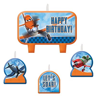 1 X Disney Planes 2 Birthday Candle Set - 4 pcs by Amscan: Toys & Games