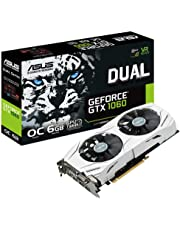 ASUS GeForce DUAL-GTX1060-O6G 6 GB Graphics Card - Silver