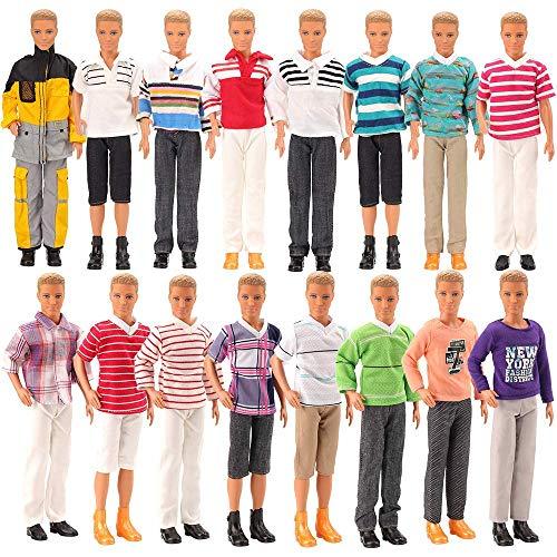 e5118aff4845f 「Barwawa」10枚セット ケンとバービー人形 バービーボーイフレンド バービー ケン リカ