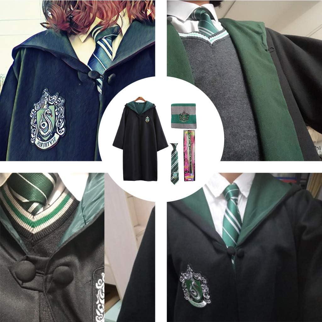 Deluxe Amycute Sciarpa e Bacchetta per Adulti e Ragazzi Mantello Magico Magico con Cravatta
