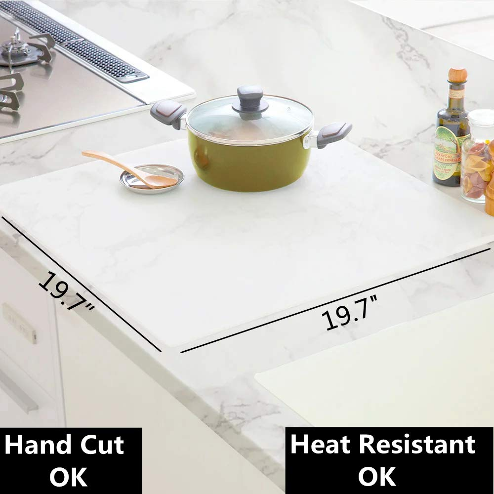 LinCan Silicone Mat for Counter, Countertop Protection, Non-Slip, Heat Resistant, 19.7''x19.7''x2mm