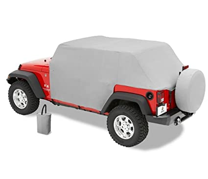 7f72ddaa9a Amazon.com: Bestop 81041-09 Charcoal All Weather Trail Cover for 2007-2018 Wrangler  JK Unlimited: Automotive