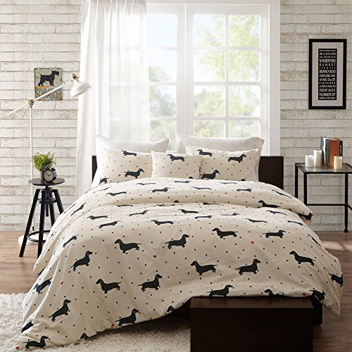 Pottery Barn White Cat Costume (NEW! Home Essence Jamie Full/Queen 4-Piece Duvet Cover Bedding Set with Matching Pillow Shams and Decorative Pillow in Black and White Polka Dot and Dachshund Pattern)