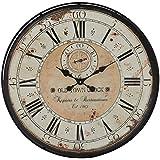 "Deco 79 52531 Wood Metal Wall Clock, 32"""