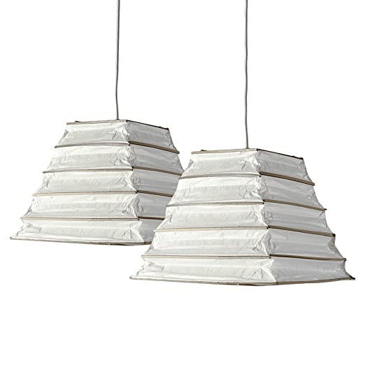 Pair of stunning ambient modern aztec pyramid steps shaped white pair of stunning ambient modern aztec pyramid steps shaped white chinese paper lantern ceiling pendant aloadofball Gallery