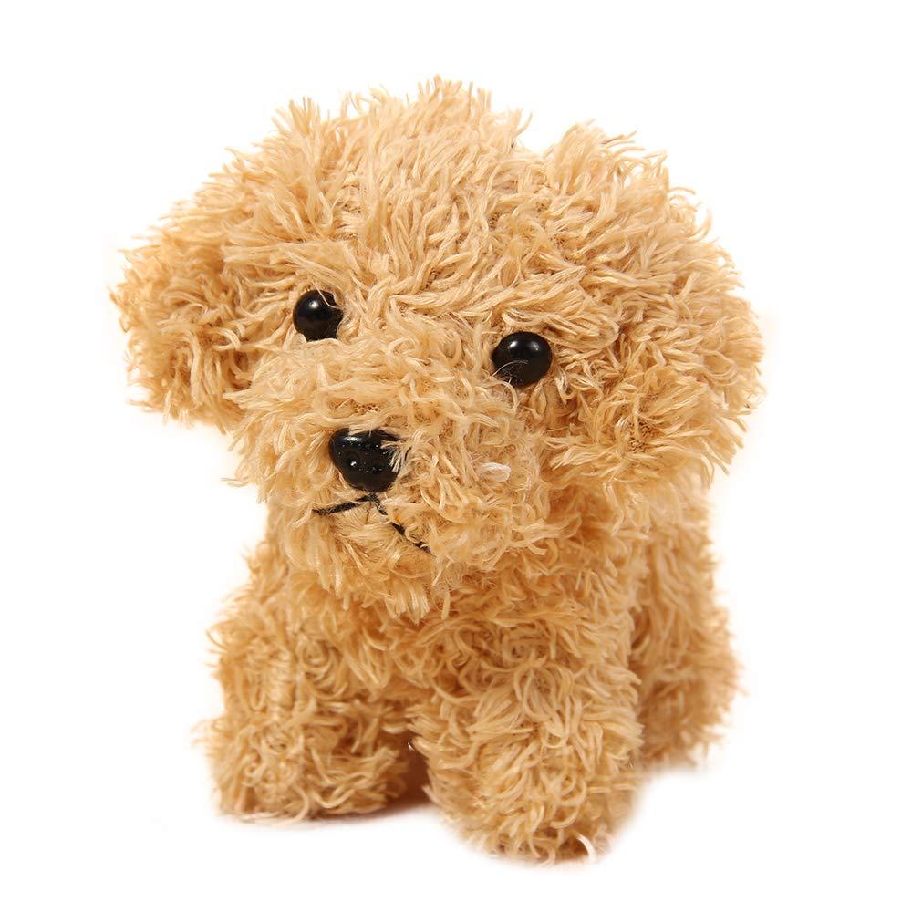 B07YRWJ522 Vel Plush Keychain Stuffed Animal Dog Toy Fashion Accessory Backpack Clips 5 inch (Gold) 61qgVJdrutL
