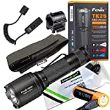 Fenix TK25 R & B 1000 Lumens white w/ Red & Blue LED hunting Flashlight rechargeable weapon mount kit with EdisonBright USB charging cable