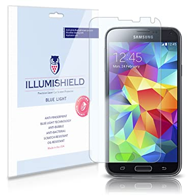 Illumishield Samsung Galaxy S5 Screen Protector With Hd Blue Light