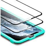 [2-Pack] ESR Screen Protector for iPhone 11 Pro/iPhone Xs/X, Full-Coverage Tempered-Glass with Easy Installation Frame & 3D Curved Edges for iPhone 11 Pro/XS/X 5.8-inch