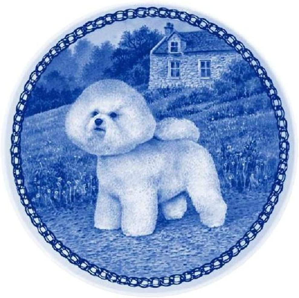 Amazon Com Bichon Frise Dog Porcelain Plate For All Dog Lovers Size 7 61 Inches Kitchen Dining