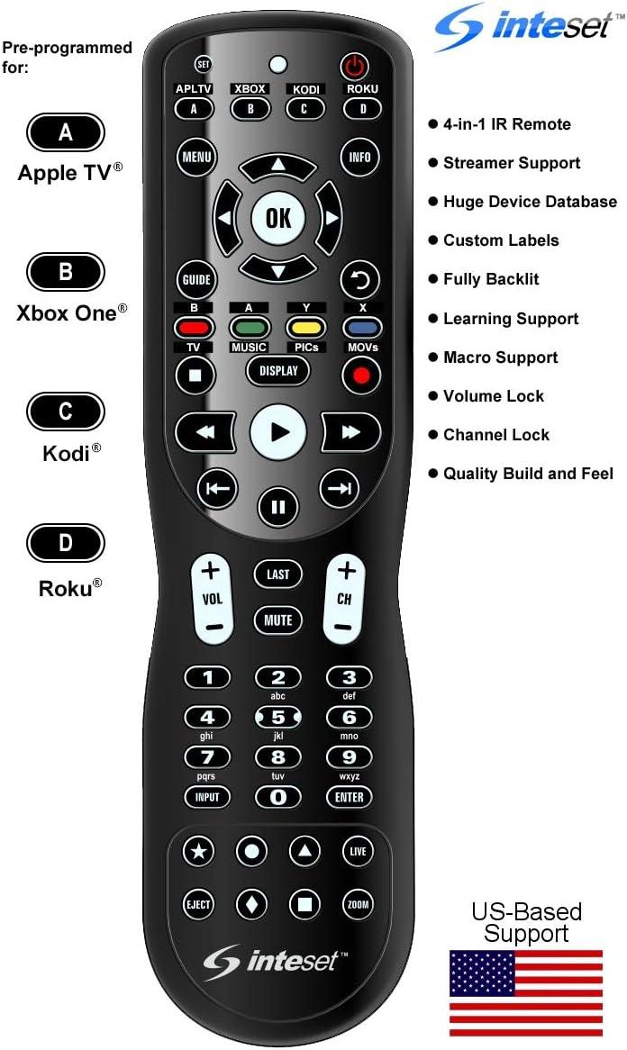 Inteset INT-422 - Mando de aprendizaje 4 en 1 para Apple TV, Xbox ...