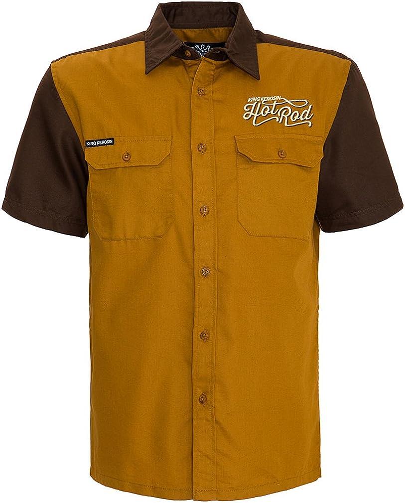 King Kerosin - Camisa casual - para hombre amarillo XL ...