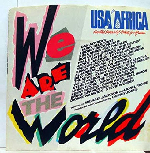 USA For Africa We Are The World 45 rpm single