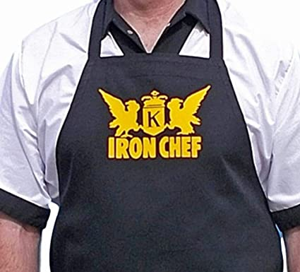 Amazoncom Iron Chef Black Aprons For Food Network Fans Black One