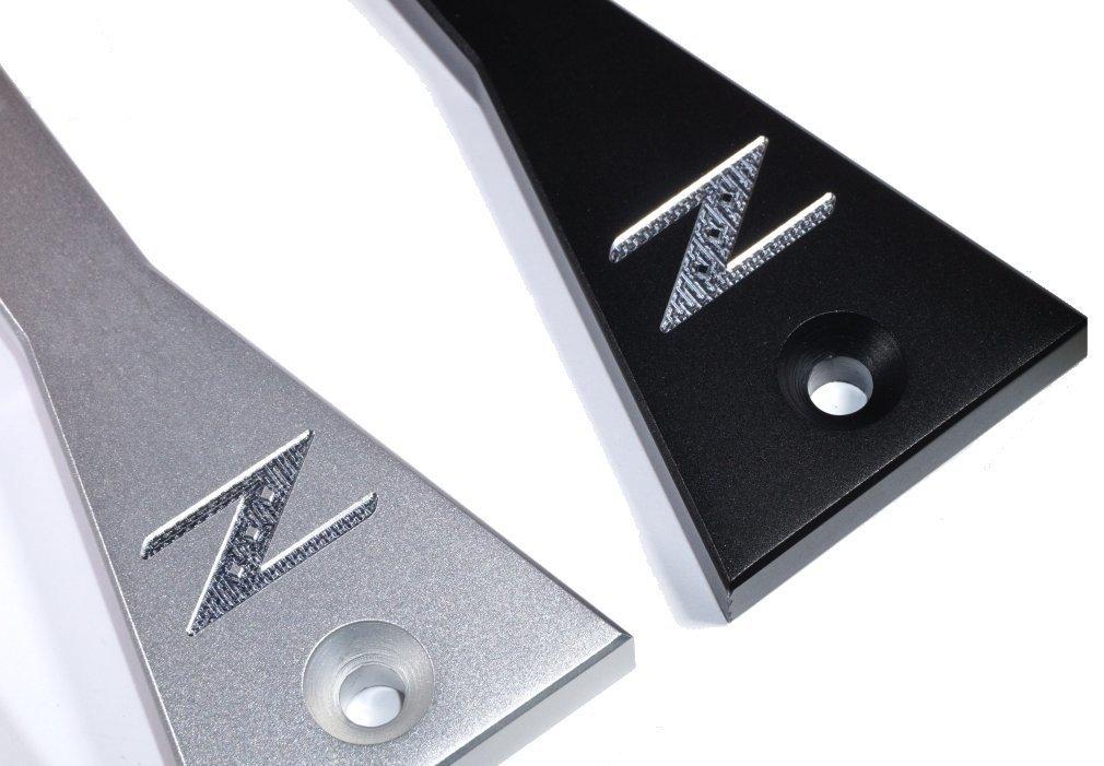 ZSPEC Billet Battery Hold Down Kit for Nissan 350z Z33, 03-09, Silver or Black Black by ZSPEC