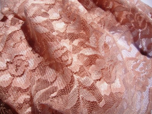 135mm Dusky Pink Stretch Nylon Flat Lace Trimming/Edging - One metre by Cranberry Card Company