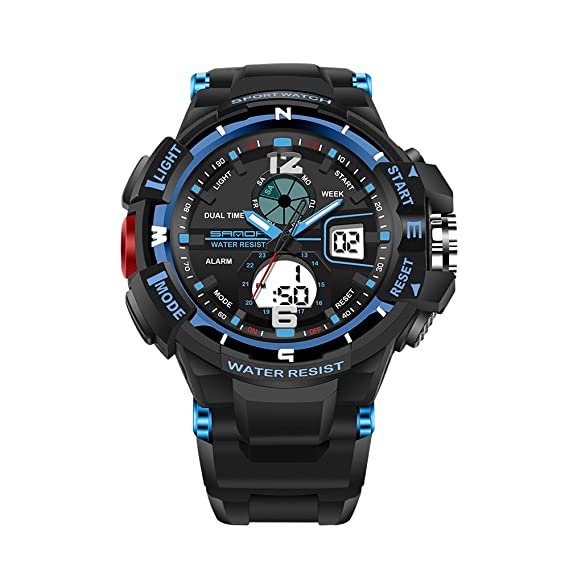 Uhren Männer Sport Uhr Digitale Led Wasserdicht Armbanduhr Luxus Männer Analog Digital Military Armee Elegante Herren Uhr Elektronische Uhr Herrenuhren