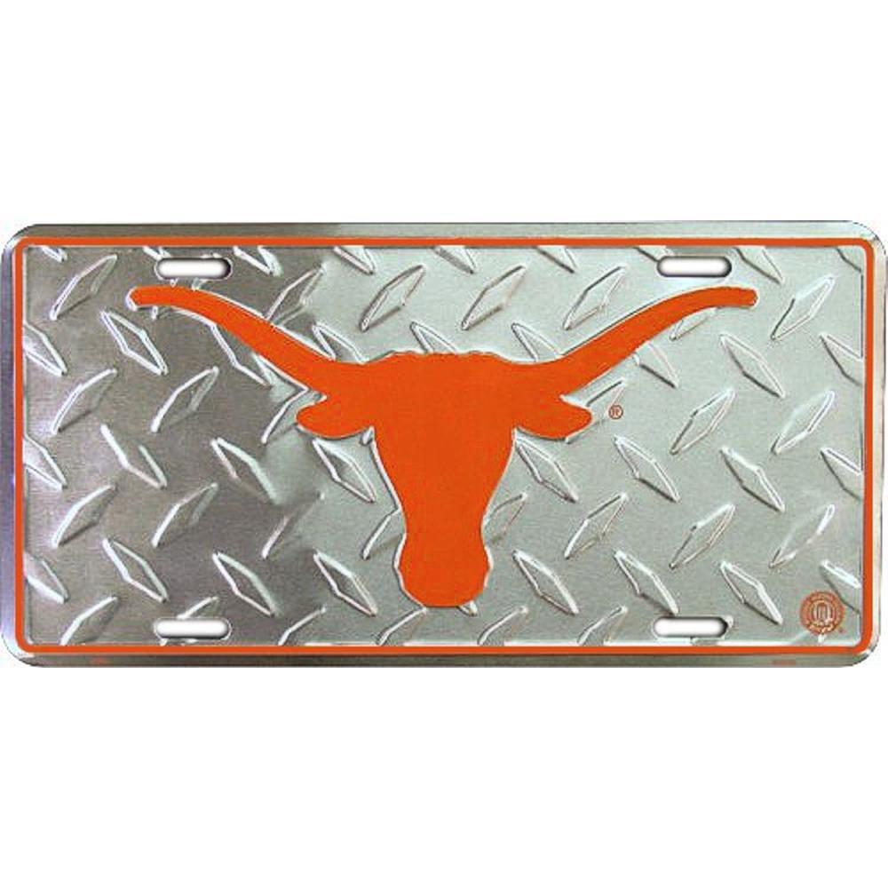 Signs 4 Fun Slctxd TX Univ Longhorns Diamond License Plate