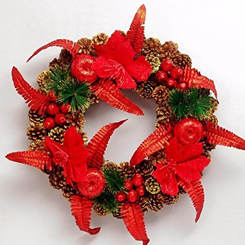 Christmas Garland for Stairs fireplaces Christmas Garland Decoration Xmas Festive Wreath Garland with 40cm Christmas wreath Rattan wreath by Caribou Furniture And Decor