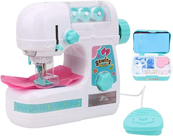 Simlug Caja de máquina de Coser para niños, Color Azul y Blanco ...