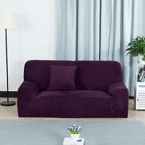 Amazon.com: ZealMax Funda de sofá de terciopelo Funda de ...