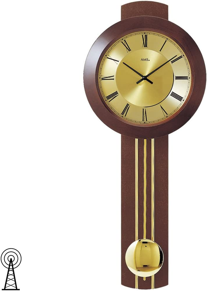 73 x 31 x 18 cm AMS Funk Pendeluhr Mehrfarbig Holz