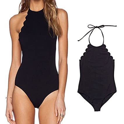 62488b45d0 Eleoption 2017 Sexy High Waist One Pcs Swimsuit Set Cover Ups Bathing Suit  Bikini Swimsuit For Women Teens Girls (S