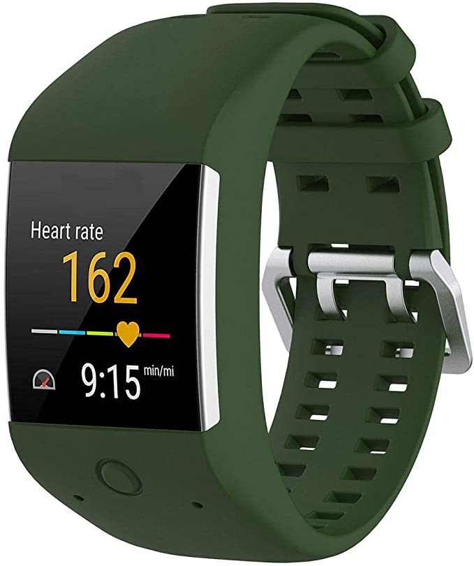 KOBWA - Correa de repuesto para relojes Polar M600, talla única, color Army Green: Amazon.es: Deportes y aire libre