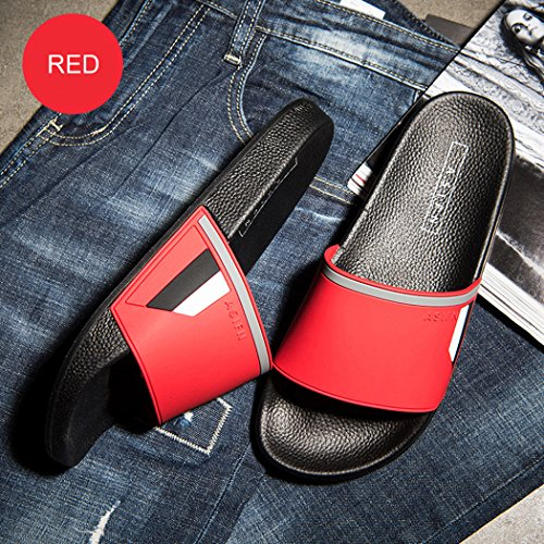 Women Wide Indoor Bathroom Sandals For Shower And outdoor Unisex Slide slip Shoes Ranberone Men Slippers Red Fit Anti ZgqXw