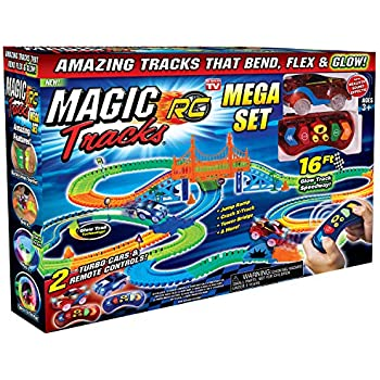 Ontel Magic Tracks Mega RC with 2 Remote Control Turbo Race Cars and 16 ft of