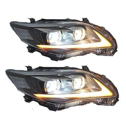 Lámpara de cabeza para Corolla 2011-2013 proyector de doble lente ...