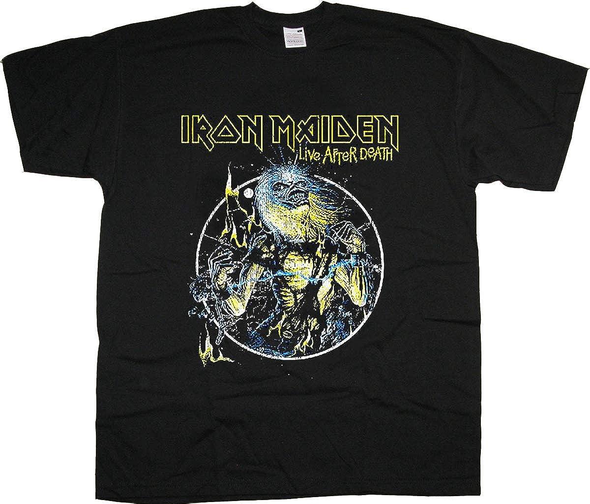 Iron Maiden Live After Death Steve Harris Rock Oficial Camiseta para Hombre: Amazon.es: Ropa y accesorios