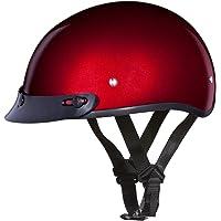 $58 » Daytona Helmets Motorcycle Half Helmet Skull Cap 100% DOT Approved