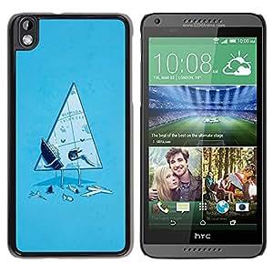 TECHCASE**Cubierta de la caja de protección la piel dura para el ** HTC DESIRE 816 ** Funny Bermuda Triangle