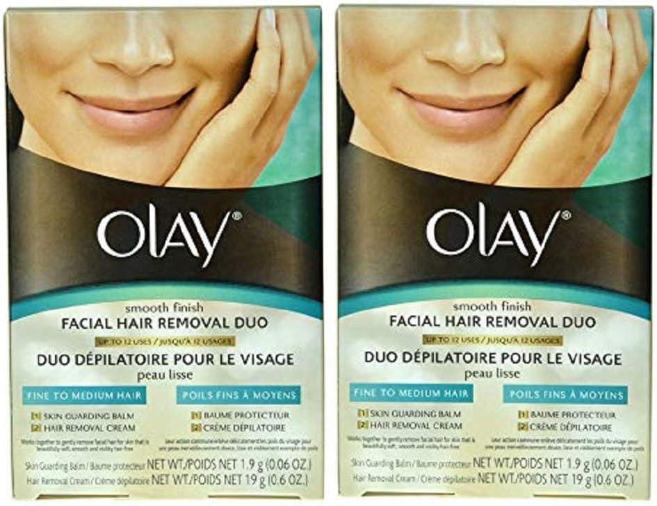 Amazon Com Olay Smooth Finish Facial Hair Removal Duo 1 Kit 2