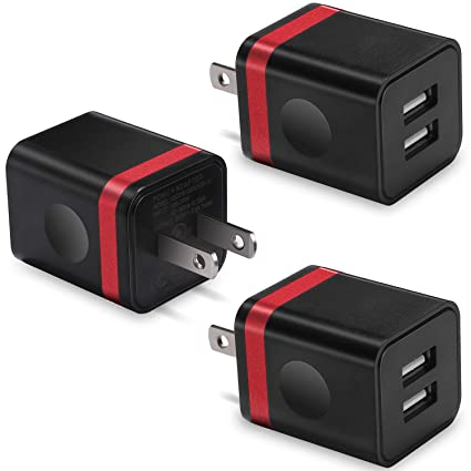 Amazon.com: Cargador de pared USB, BEST4ONE 2,1 A/5V Dual ...