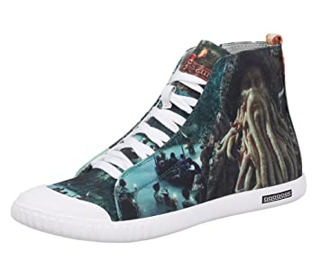 Pirates of the Caribbean Captain Octopus Davy Jones Cosplay Shoes 3D Printing Canvas Shoes Sneakers