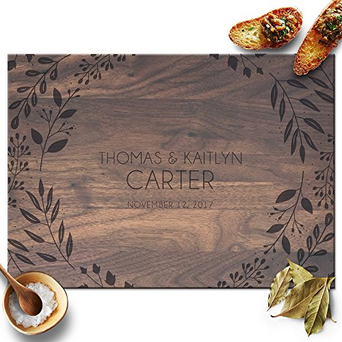 Froolu Elegant Leaves personalized wood cutting boards for Real Estate Agent Closing Gifts Gifts -