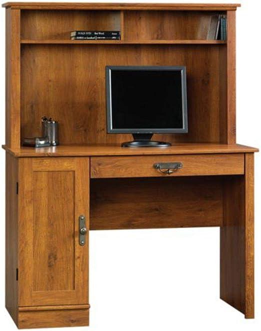 Dk Cherry Computer Desk Hutch Home Office Workstation Wooden Table CPU Storage