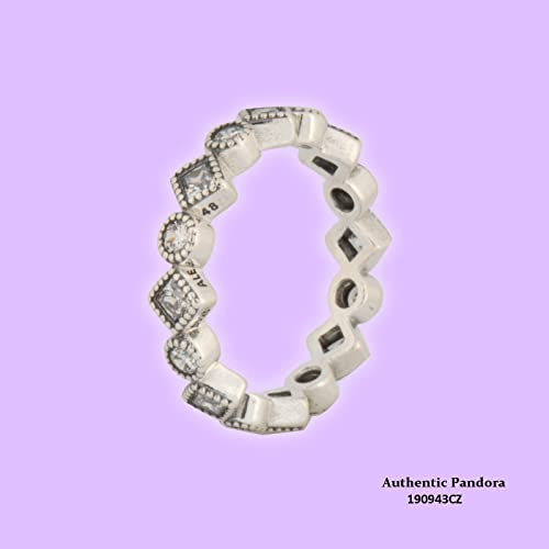 5973ed7d1 Image Unavailable. Image not available for. Color: Pandora Alluring  Brilliant Princess Clear CZ Ring 190943CZ-50/ Size 5