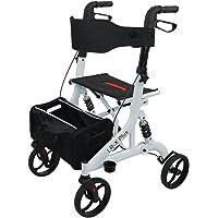 Trendmobil - LR-X Plus Weiß - Leichtgewicht Rollator mit Federung + Faltbar + Griffhöhe Einstellbar + Stockhalter + Tasche