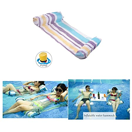 Artistic9 Hamaca hinchable para piscina, sillas flotantes ...