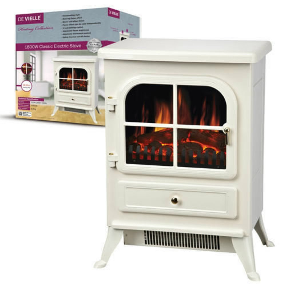 De Vielle Classic Electric Stove, Metal, Cream McLoughlinRS uk home MDA7Q DEF766326