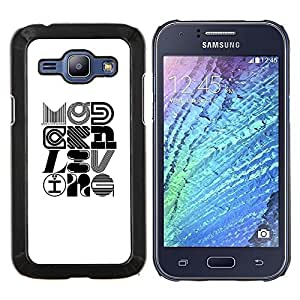 "For Samsung Galaxy J1 J100 Case , Pop Arte Moderno Diseño Caligrafía"" - Diseño Patrón Teléfono Caso Cubierta Case Bumper Duro Protección Case Cover Funda"