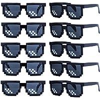 kilofly 10 gafas de sol de 8 bits para jugadores de videojuegos, para adultos y niños, accesorios de fiesta