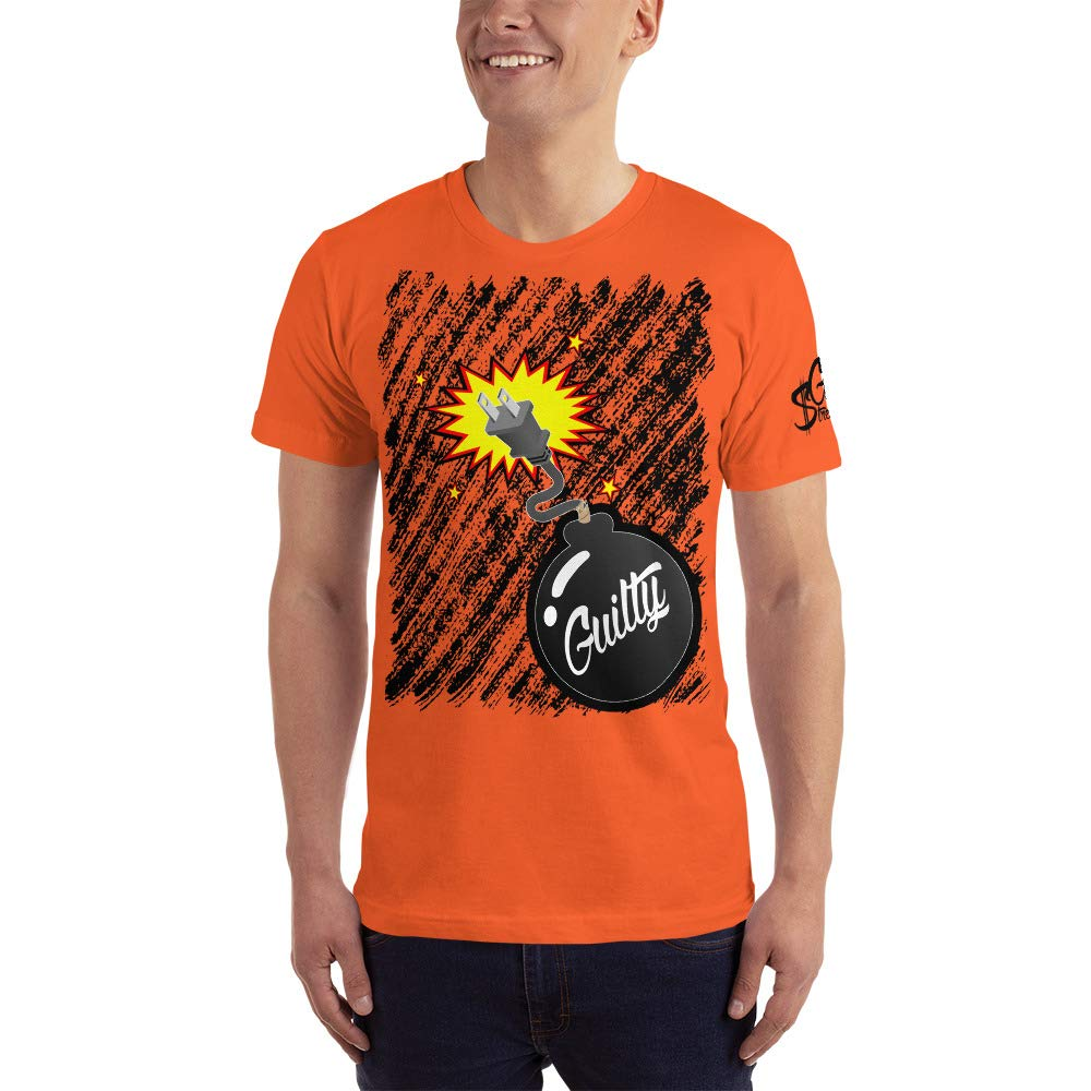 Mens T-Shirt Guilty Bomb Plug